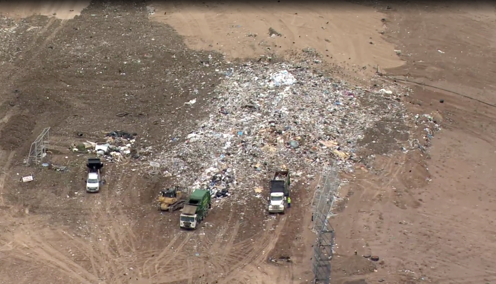 Aerial Shot KQRE Channel news 13 of Rio Rancho Landfill