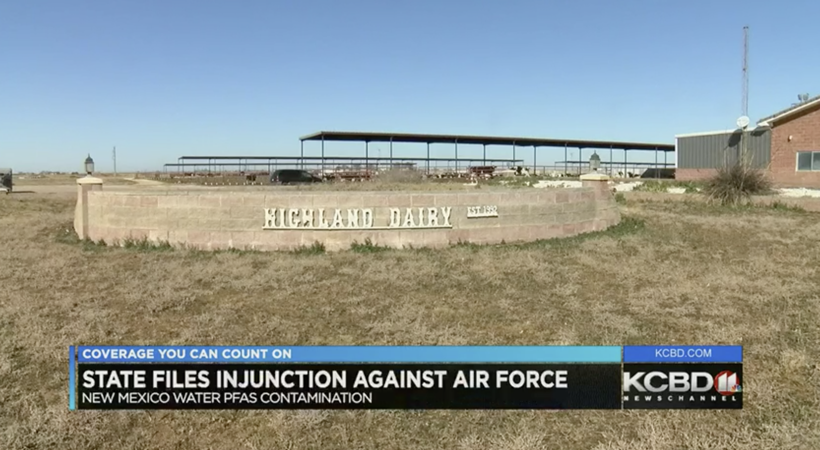 Schapp Family Business Highland Diary suffering from PFAS contamination from Cannon Air Force Base